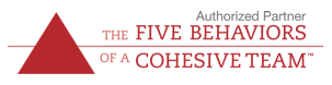 Five Behaviors of a Cohesive Team graphic and link