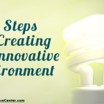 light bulb symbolizing ideas generated in an innovative environment