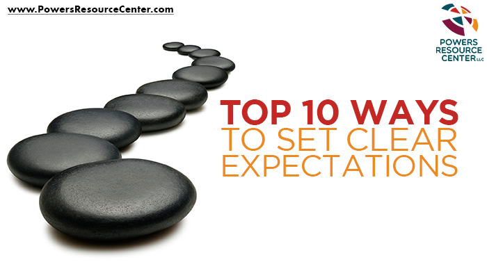 graphic that says top 10 ways to set clear expectations