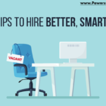 graphic that says 5 tips to hire better, smarter, to improve the hiring process