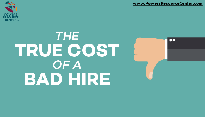 Graphic that says the true cost of a bad hire