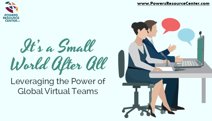 7c87f52370f2 Graphic that says leveraging the power of global virtual teams
